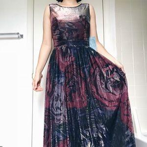 Dark floral gown